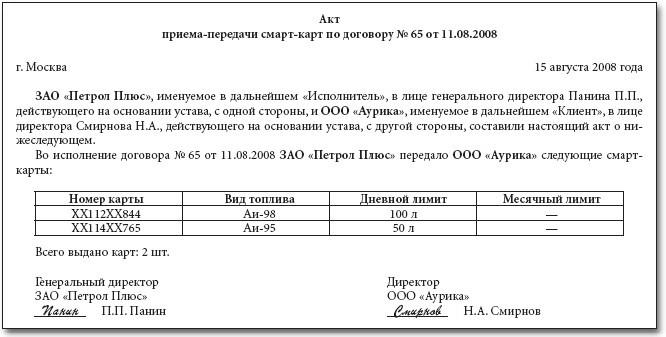 бланк акта приемки передачи денежных средств физическими лицами