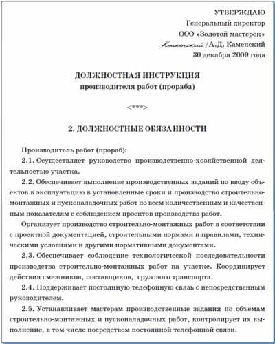 должностная инструкция директора агентства недвижимости