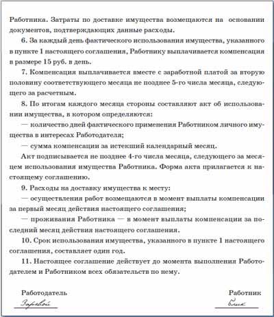 Воронкову за использование его автомобиля в служебных целях 1200 руб.