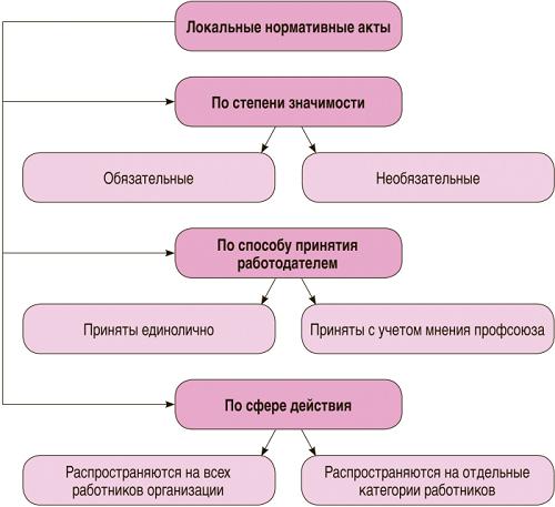 Локальный нормативный акт организации: виды, форма, порядок принятия