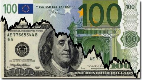 Евро дешевеет к доллару на опасениях из-за европейской банковской системы