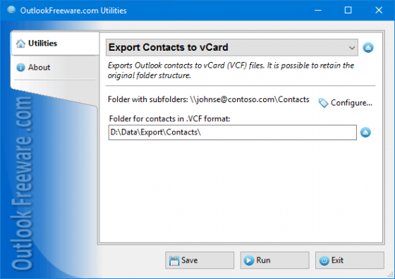 Export Contacts to vCard 4.5