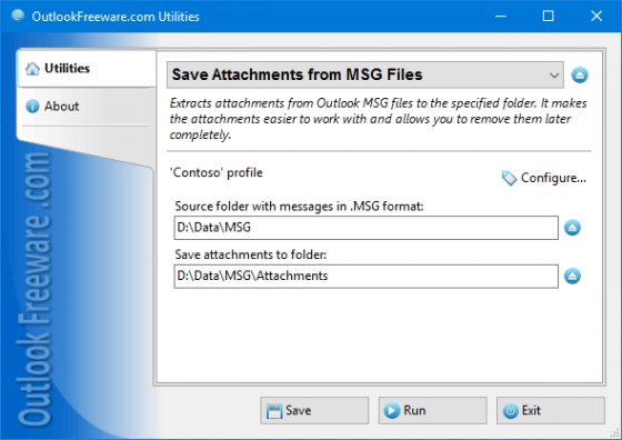 Save Attachments from MSG Files 4.6
