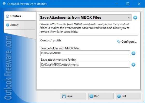 Save Attachments from MBOX Files 4.6