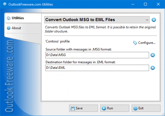 Convert Outlook MSG to EML Files 4.5